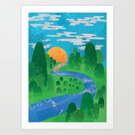 The Valley Art Print