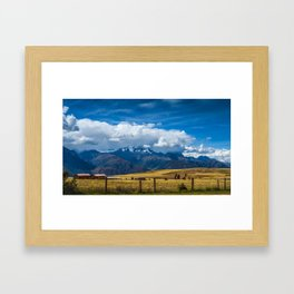 Andes Mountains Framed Art Print