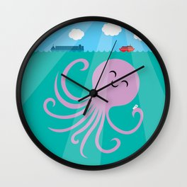 Octopus Selfie Wall Clock