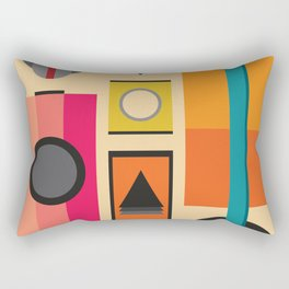 Modern Retro Design Rectangular Pillow