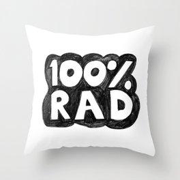 100 % RAD - Bubble Throw Pillow