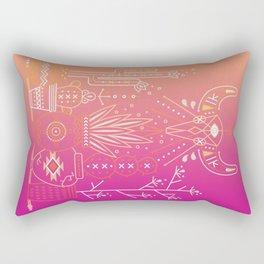 Santa Fe Garden – Pink Sunset Rectangular Pillow