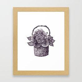 Flower Basket Framed Art Print