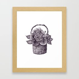 Flower Basket Framed Art Print