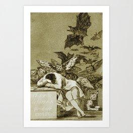 Francisco Goya - The Sleep Of Reason Produces Monsters Art Print