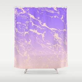 Modern blush pink purple ombre gradient marble pattern Shower Curtain