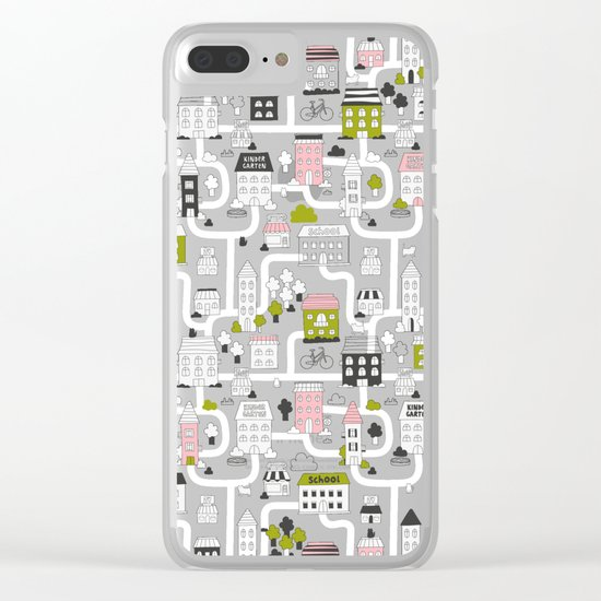 City map Clear iPhone Case