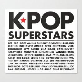 KPOP Superstars Original Boy Groups Merchandse Canvas Print