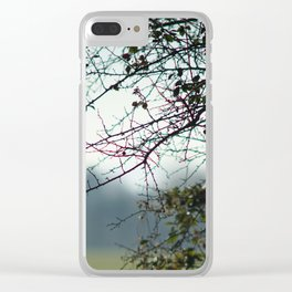 Bare Branches Clear iPhone Case