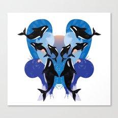 orca splash Canvas Print