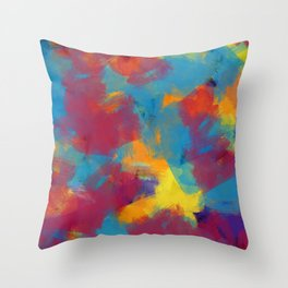 A Tropical Paradise - Abstract Art Throw Pillow