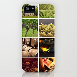 Wine Vineyard Collage - Cafe or Bar Decor iPhone Case