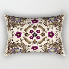 Hellebore and Nightshade Mandala Pattern Rectangular Pillow
