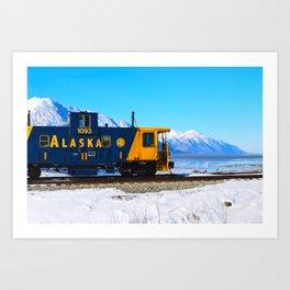 Caboose - Alaska Train Art Print