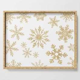 Snowflake Pattern 01 Serving Tray