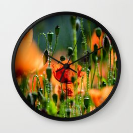 poppy dream Wall Clock