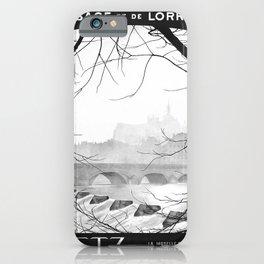 retro monochrome Metz iPhone Case