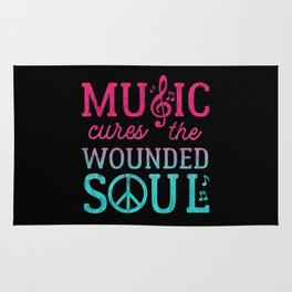 Music Cures the Wounded Soul Rug