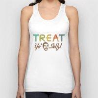 treat yo self Tank Tops featuring Treat Yo' Self by See No Evil