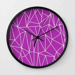 Geometric Cobweb (White & Purple Pattern) Wall Clock