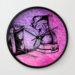 Violet Sneakers Wall Clock