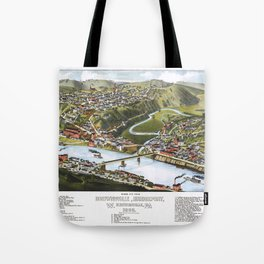 BOSTON MASSACHUSETTS city old map Father Day art print poster Tote Bag