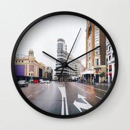 Madrid - Gran Via Wall Clock