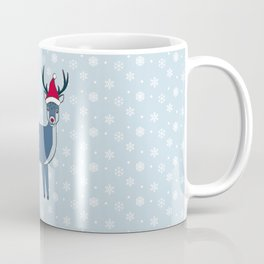Snow Deer stole Santa's hat Coffee Mug