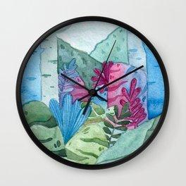 Watercolor landscape Wall Clock