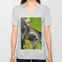 Sloth_20171105_by_JAMFoto Unisex V-Neck