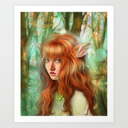 In The Woods - Bambie Art Print
