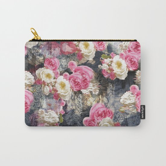 Blurry Floral Carry-All Pouch