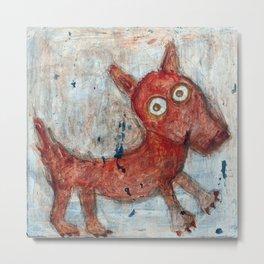 Scotty - Abstract playful fun dog Metal Print
