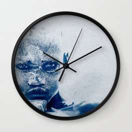 Magnificent EYES - Karo Tribe Ethiopia Wall Clock