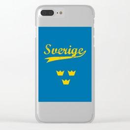 Sweden, Sverige, vintage poster Clear iPhone Case