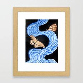 blue moths Framed Art Print