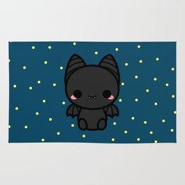 Cute spooky bat Rug