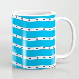 Coastal Pattern Blue Ocean Coffee Mug