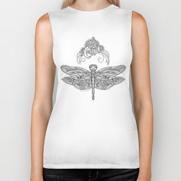 Fly with me through the wind, my dragonfly. Biker Tank