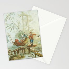 Light Green & Red Chinoiserie Stationery Cards