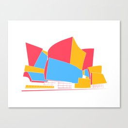 Concert Hall - Los Angeles - California - Frank Gehry Canvas Print