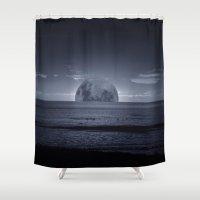 moonrise Shower Curtains featuring Moonrise by Rhianna Power