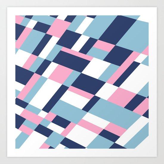 Matisse Map Pink Art Print