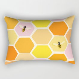 Busy As A Bee In A Hive Rectangular Pillow
