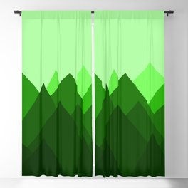 Abstract Forest Blackout Curtain