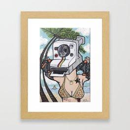 LavaGirl Framed Art Print