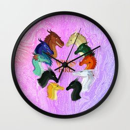 Wings Of Fire Wall Clock