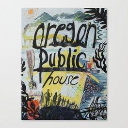 Oregon Public House Poster - 2 Canvas Print