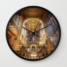 interior of the cathedral3 Wall Clock