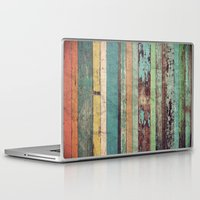 wooden Laptop & iPad Skins featuring Wooden Vintage  by Patterns and Textures